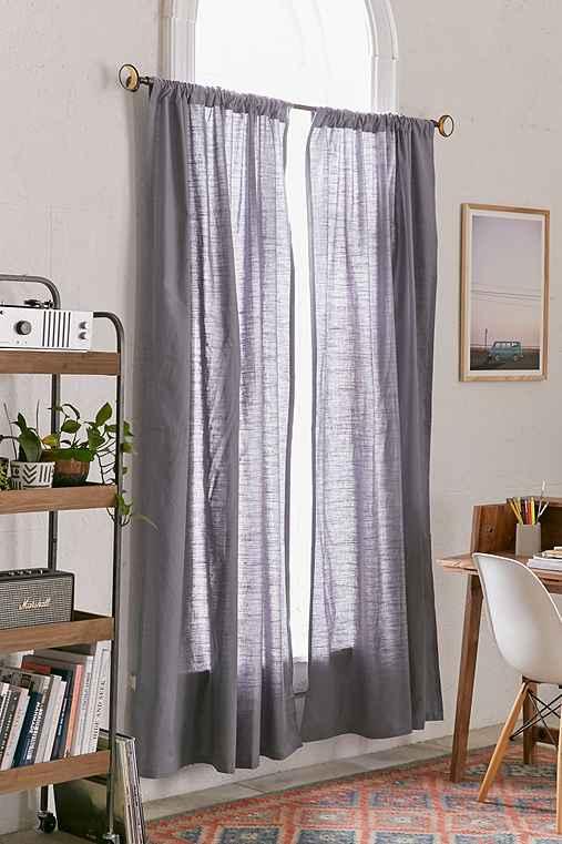 4040 Locust Cotton Slub Curtain,GREY,52X84