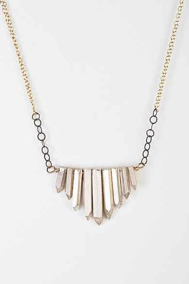 Jessica DeCarlo Metal Crystal Necklace