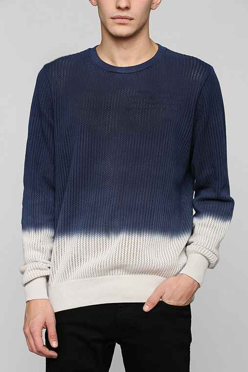 Open Knit Dip Dye Sweater Urban Outfitters
