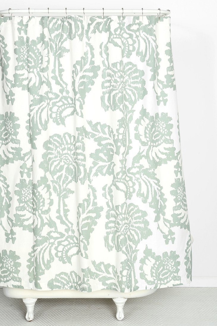 Magical Thinking Stamped Blossom Shower Curtain Urban Outfitters