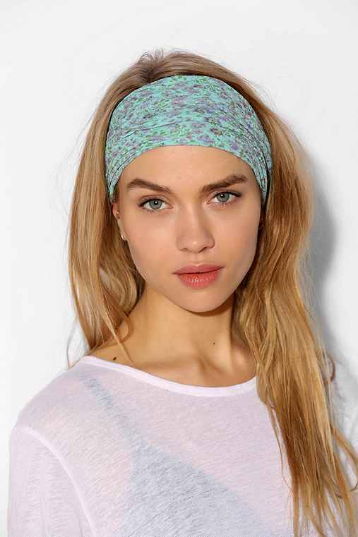Bella Super-Wide Headwrap,TEAL,ONE SIZE