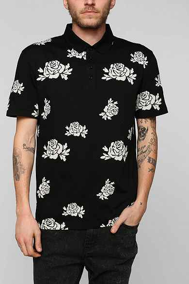 Your Neighbors Roses Polo Shirt