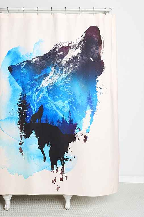 Robert Farkas For DENY Alone As A Wolf Shower Curtain