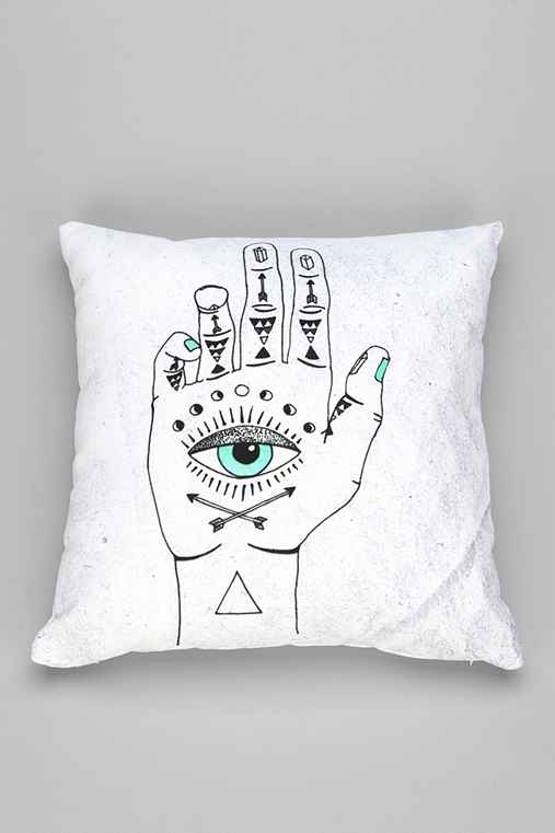 Wesley Bird For DENY Eye See Hamsa Pillow - Urban Outfitters