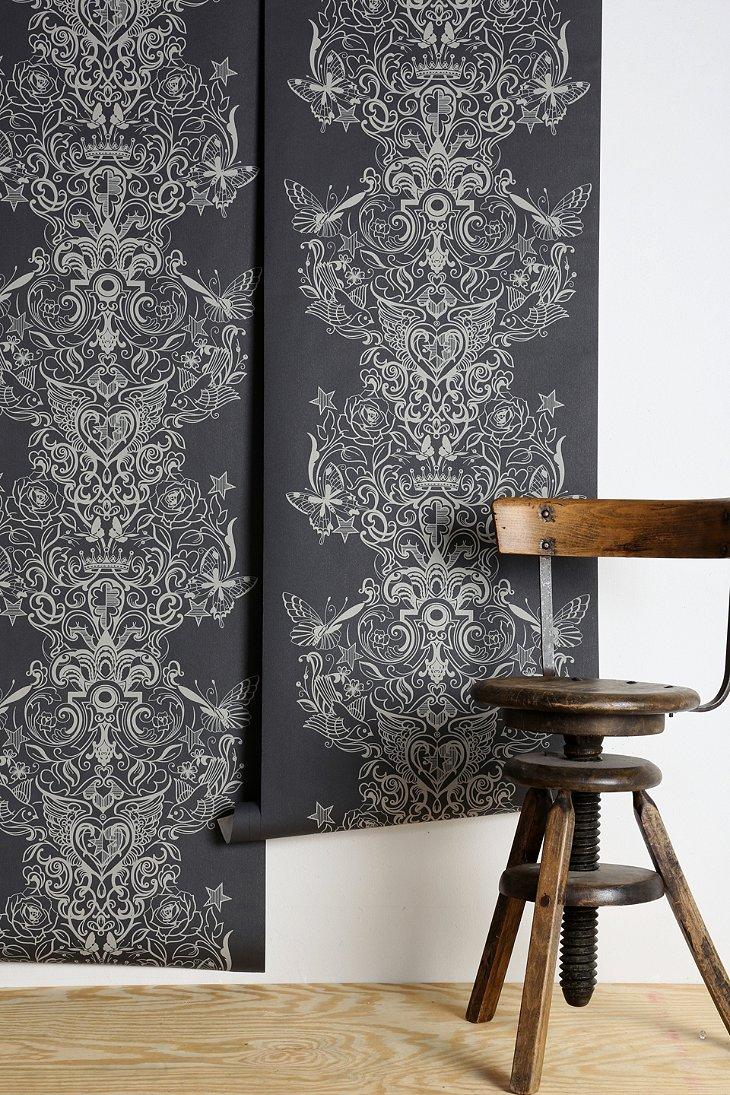 graham brown sinbad wallpaper urban outfitters. Black Bedroom Furniture Sets. Home Design Ideas