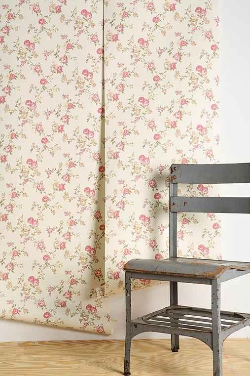 graham brown rose cottage wallpaper urban outfitters. Black Bedroom Furniture Sets. Home Design Ideas