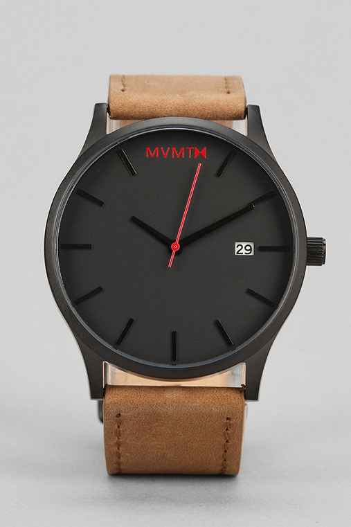 MVMT Classic Leather Watch,TAN/BLACK,ONE SIZE