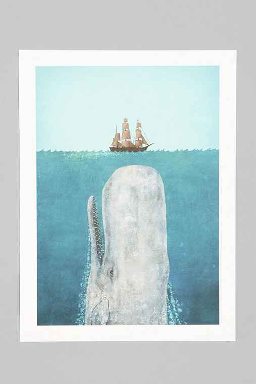 Terry Fan The Whale Art Print Urban Outfitters