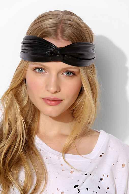 Twisted Leather Headwrap - Urban Outfitters