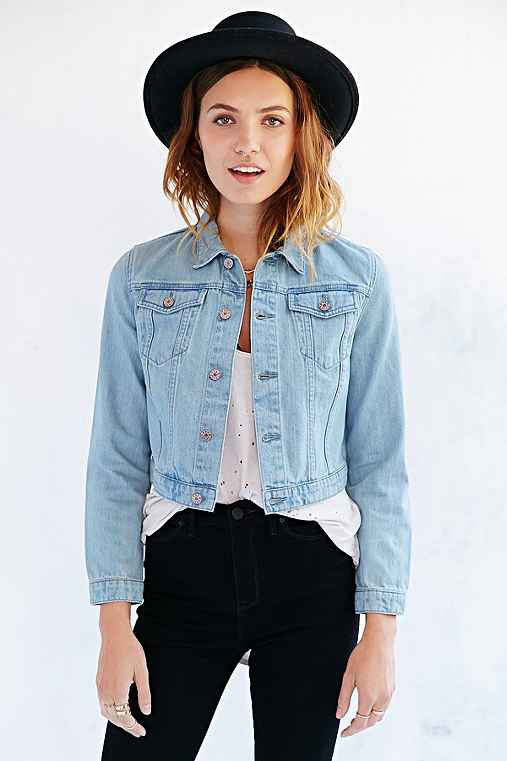 BDG Cropped Denim Trucker Jacket