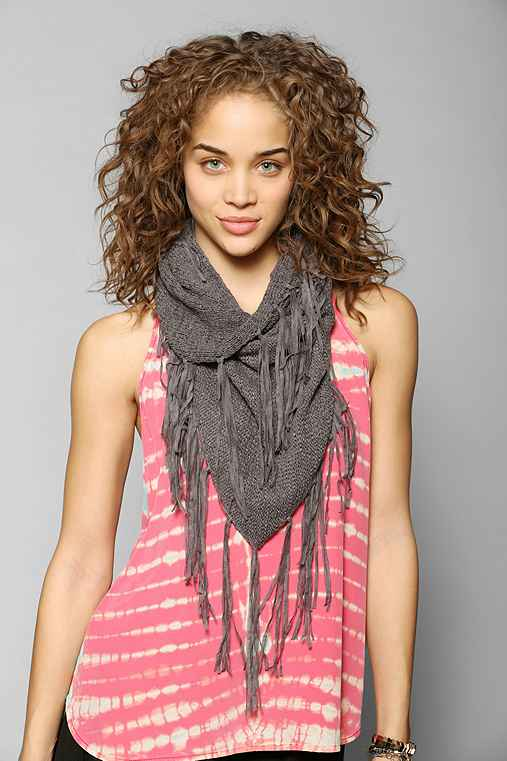 Staring At Stars Boho Fringe Snood Scarf