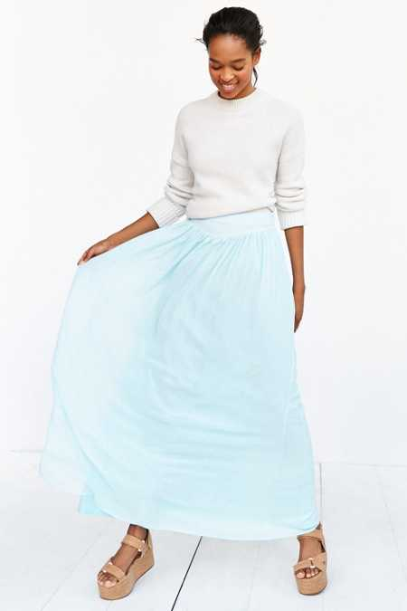 Pins And Needles Yoke Chiffon Maxi Skirt