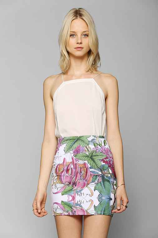 Iron Fist Floral Mini Bodycon Skirt