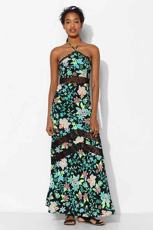 Lovers + Friends Tonight Floral Halter Maxi Dress