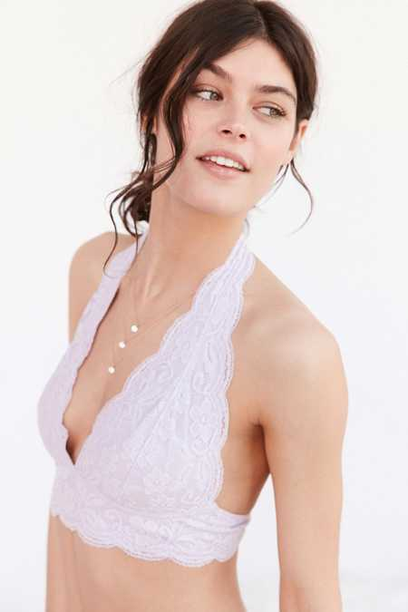 Pins And Needles Lace Halter Bra