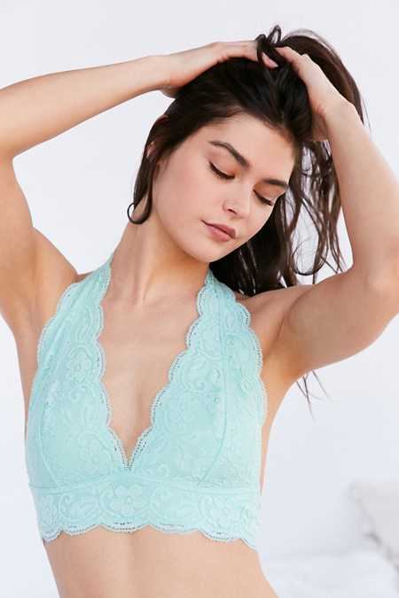 Out From Under Lace Halter Bra