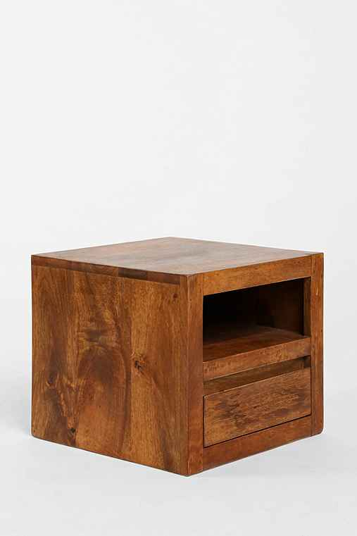 Wooden cube side table urban outfitters for Cube side table