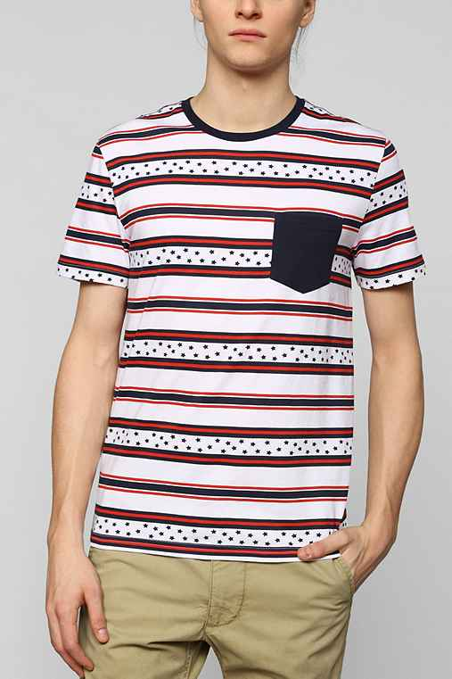 BDG Stars Stripe Pocket Tee