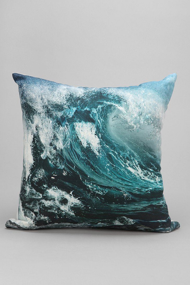 Throw Pillows Urban Outfitters : Wave Pillow - Urban Outfitters