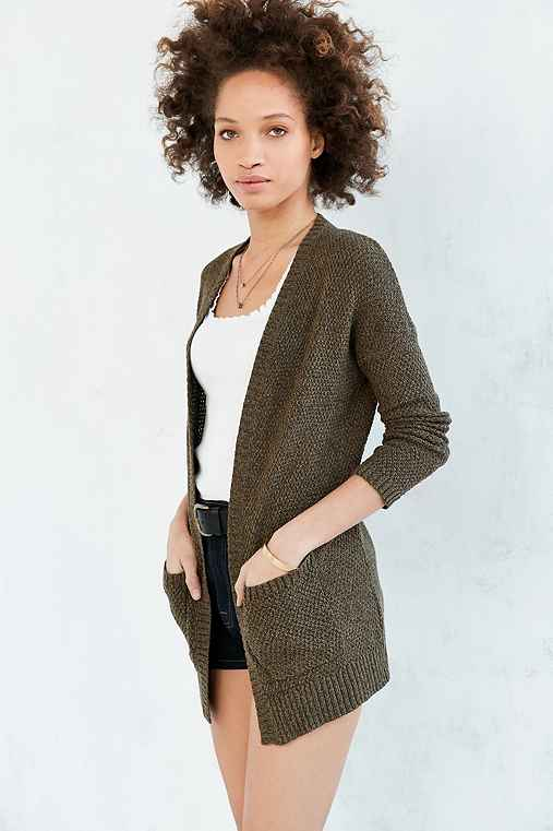 BDG London Cardigan,GREEN,M