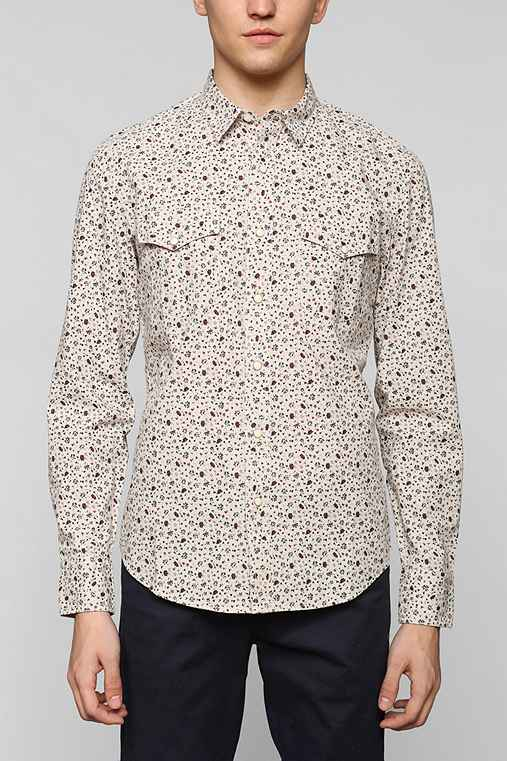 Salt Valley Floral Chambray Button-Down Shirt