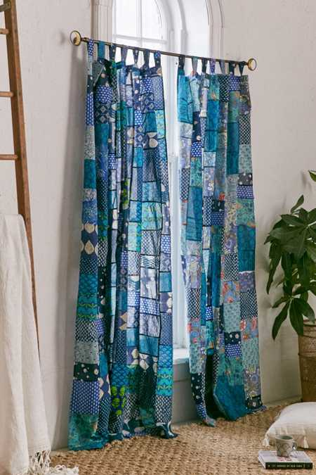 Magical Thinking Patchwork Curtain