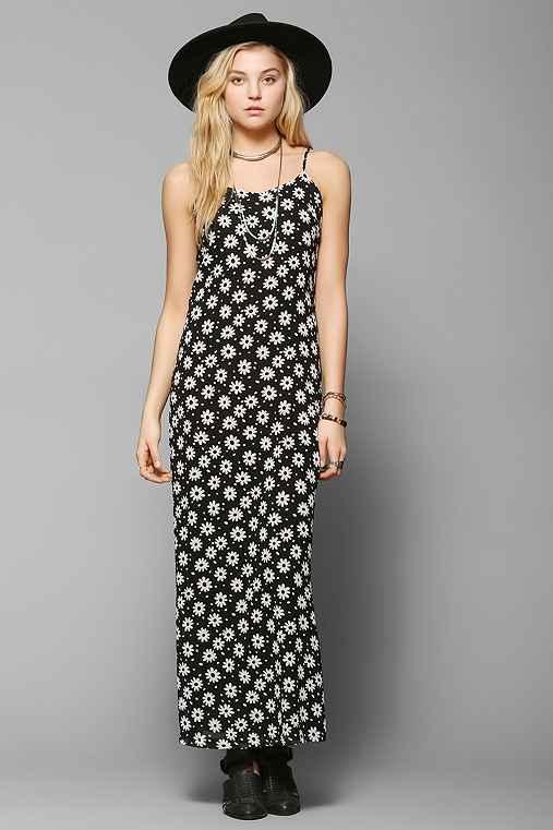 Glamorous Dotty Daisy Chiffon Maxi Dress