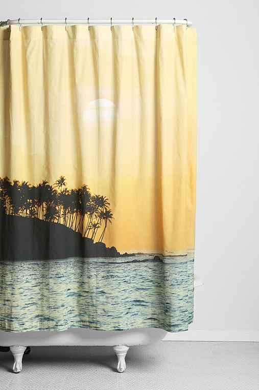 magical thinking sunset beach shower curtain
