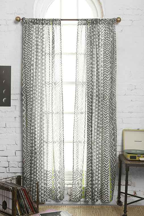 Magical Thinking Stamp Stripe Curtain Urban Outfitters