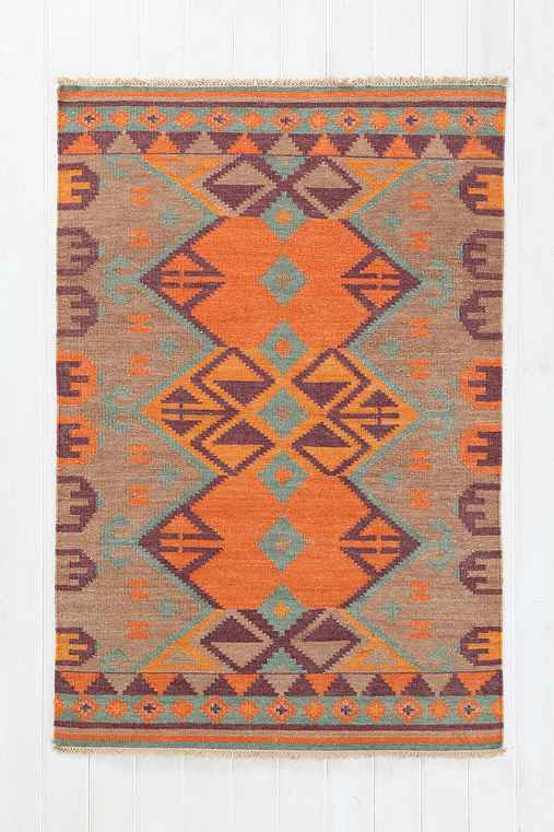 Woven Mirrored Arrow Kilim Rug