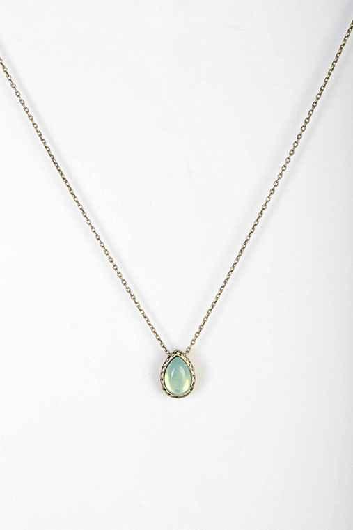 Delicate Teardrop Stone Necklace