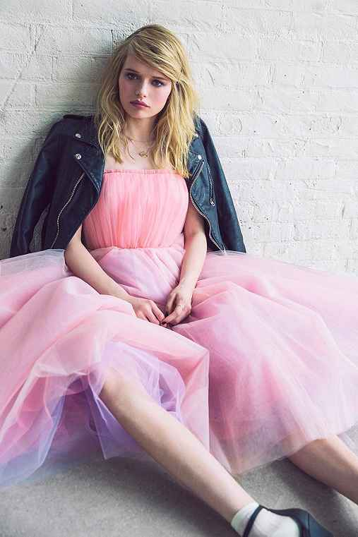 Betsey Johnson Vintage For UO Becca Strapless Tulle Dress