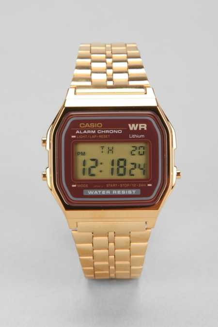 Casio Classic Gold & Red Watch
