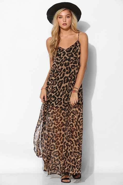 Leopard Print Maxi Dresses