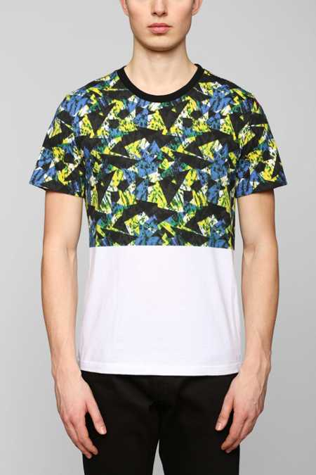 BDG Acid Triangles Blocked Tee