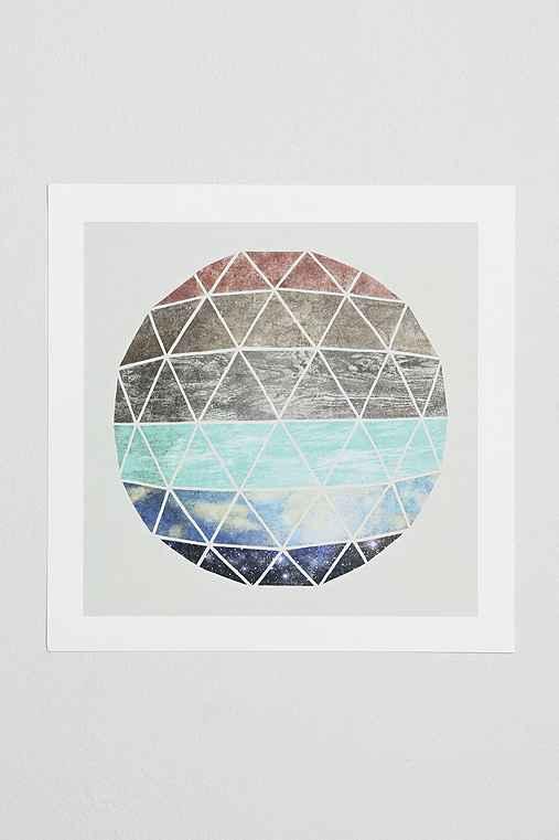 Terry Fan Geodesic Art Print