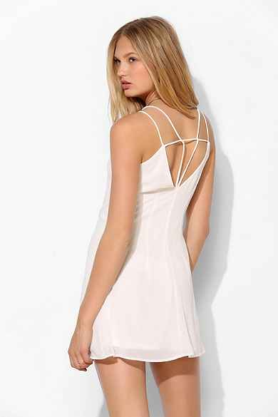 Sparkle & Fade Chiffon Double-Layer Slip Dress