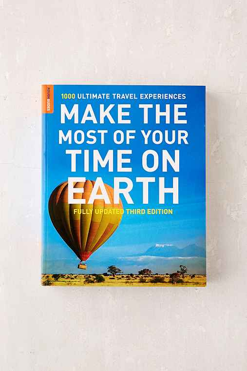 Make The Most Of Your Time On Earth: 1000 Ultimate Travel Experiences By Rough Guides,WASHED BLACK,ONE SIZE
