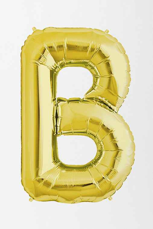 Gold Letter Party Balloon,B,ONE SIZE