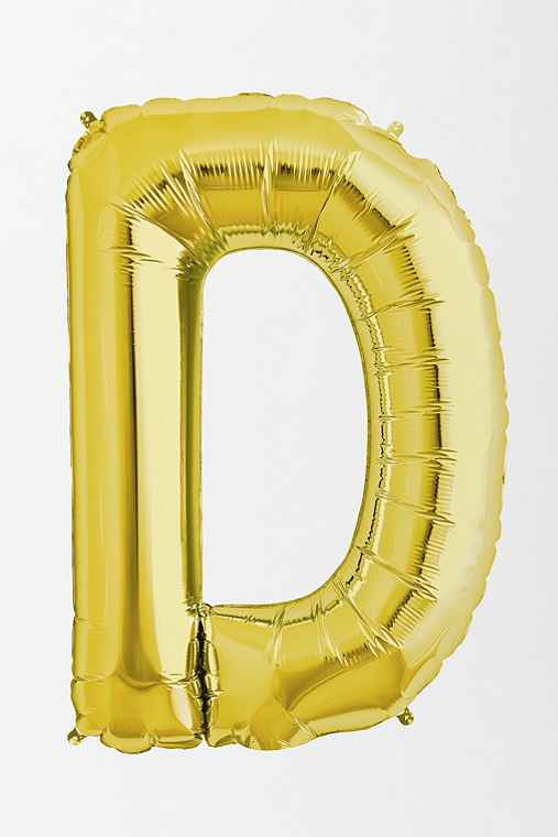 Gold Letter Party Balloon,D,ONE SIZE
