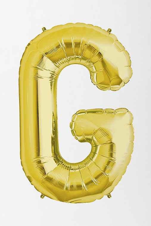 Gold Letter Party Balloon,G,ONE SIZE