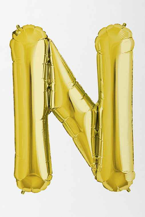 Gold Letter Party Balloon,N,ONE SIZE