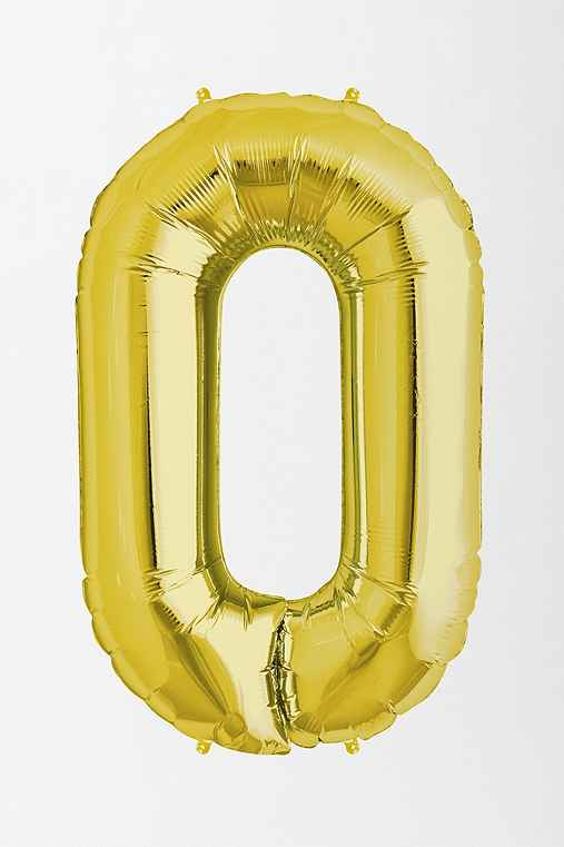 Gold Letter Party Balloon,O,ONE SIZE