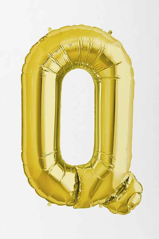 Gold Letter Party Balloon,Q,ONE SIZE