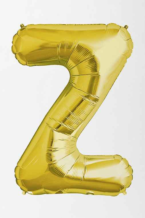 Gold Letter Party Balloon,Z,ONE SIZE