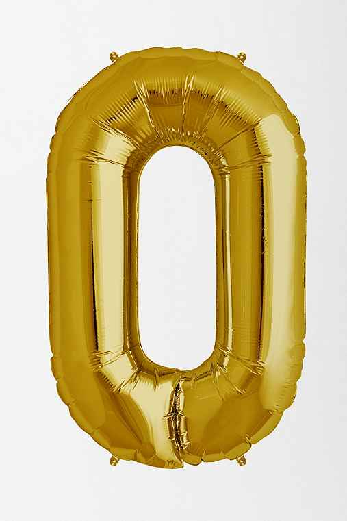 Gold Number Party Balloon,0,ONE SIZE