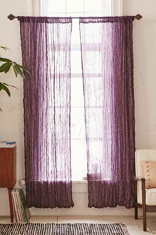 Magical Thinking Crinkle Gauze Curtain,PURPLE,52X84