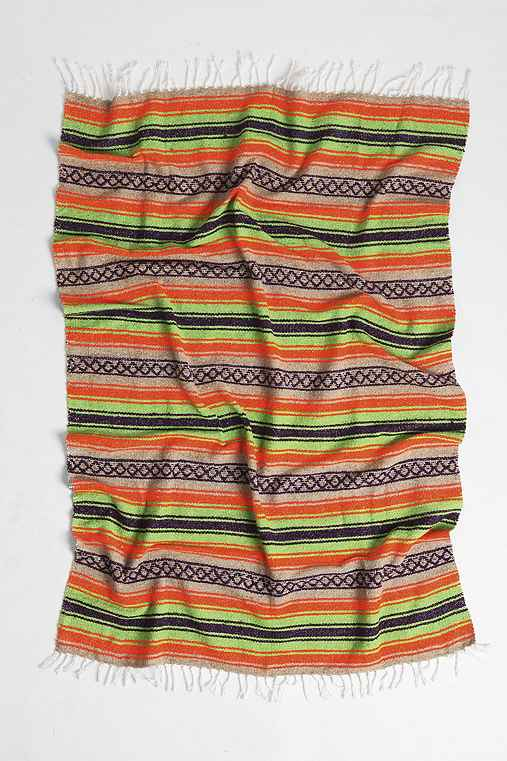 Woven Stripe Beach Blanket,LIME,ONE SIZE
