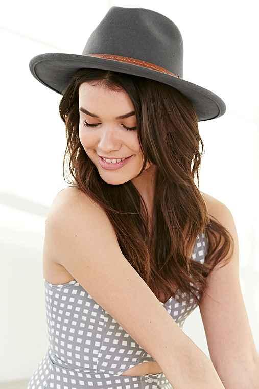 Alexa Panama Hat,CHARCOAL,S/M