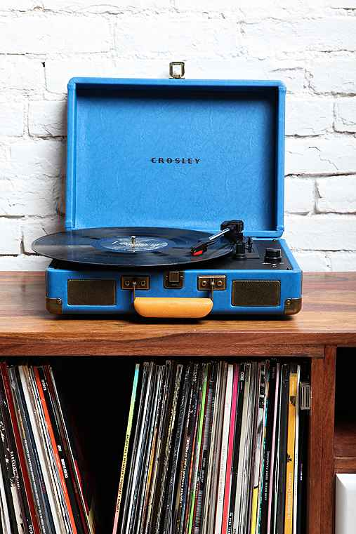 Crosley X UO Cruiser Briefcase Portable Vinyl Record Player,BLUE,ONE SIZE
